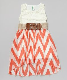 Just Kids Coral Western Belted Dress - Girls | Zulilyfinds, Girls ...