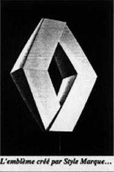 renault new 3d logo