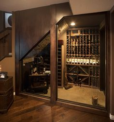 More than a Man Cave Basement Development - eclectic - wine cellar - calgary - Malbec Homes & Renovations