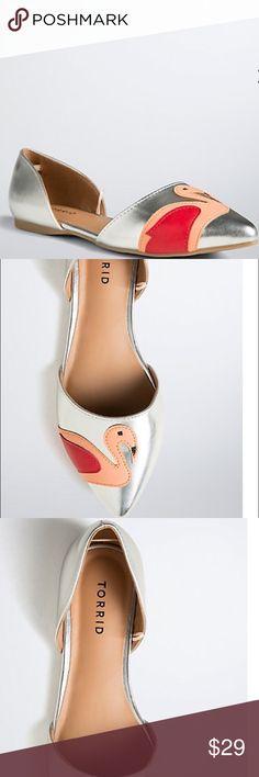 Torrid flamingo shoes 8, 9, 11 Torrid chic flamingo shoes. Electrifying Silver metallic faux leather torrid Shoes Flats & Loafers