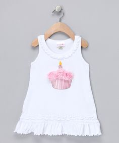 White Cupcake Rosette Dress - Infant & Toddler | Daily deals for moms, babies and kids