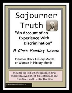 Activities and handouts for the pigman by paul zindel tammys sojourner truth an account of an experience with discrimination fandeluxe Image collections