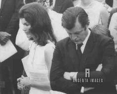 Jackie Kennedy and Edward M.Kennedy.
