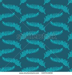 cute blue floral seamless background