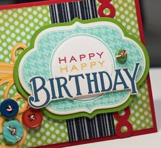Mat Stack 4. Love the colors and even though it is a card I could see this on a scrapbook page!!