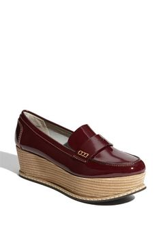 Halogen® 'Nikki' Platform Loafer in Burgundy Patent College Fashion, 70s Fashion, Vintage Fashion, Do The Hustle, What Should I Wear, Shoe Gallery, Kinds Of Shoes, Penny Loafers, We Wear