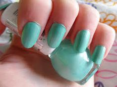 miss sporty nail polish green - my current nail colour!