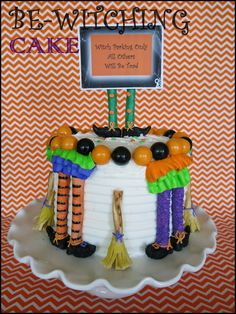 Such a fun and easy cake to make for Halloween.