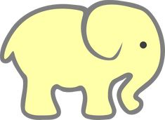 elephants silhouette  | Yellow Baby Elephant clip art