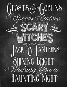 typographie halloween