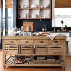 Isla para la la cocina! Super funcional: para guardar utensilios y amasar!!!:
