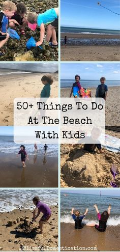Over 50 ideas of things to do at the beach with kids for a low cost great family day out. Outdoor Activities For Kids, Holiday Activities, Family Activities, Days Out For Couples, Family Days Out, Building Sand, Kids Play Spaces, Happy Kids, Travel With Kids