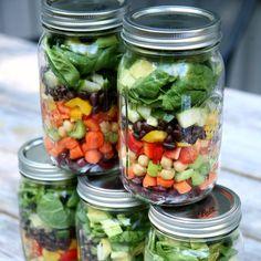 High-Protein Mason Jar Salads