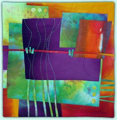Melody Johnson: Art Quilts - Galleries - Streets and Rivers Series (note-lark go here)