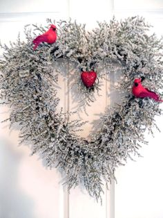 Valentine Wreath Heart Wreath Natural Wreath by forevermore1