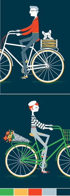 I love frenchies and bicycles. Enough said.