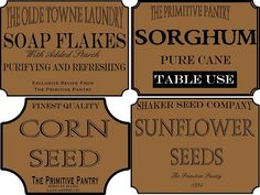Primitive Pantry Labels