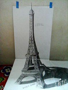 Eiffel art 3D
