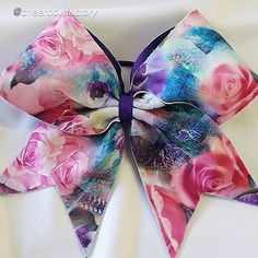 """Cheer bow of the day. by @cheerbowfactory """"Beautiful Roses bow"""" Tag #cheerbowoftheday to be featured. #cheerbow #cheerbows #beautiful #cheer #cheerleading #cheerleader #cheerleaders #allstarcheer #glitter #allstarcheerleading #cheerislife #bows #hairbow #hairbows #bling #hairaccessories #bigbows #bigbow #teambows #fabricbows #hairclips #sparkle #instafashion #rose #grosgrainribbon #dance#ribbon #instacute#instacheer Cheer Bow"""