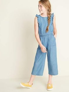 94e32498bc3de 30 Best Chambray Jumpsuit images | Catsuit, Fashion dresses, Overall ...