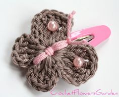 crochet hair accessories unique, cute hair clips in soft beige and pink. will match to every little GGILOSL hair accessories crochet hair accessories unique, cute hair clips in soft beige and pink. will match to every little GGILOSL Love Crochet, Crochet Gifts, Knit Crochet, Unique Crochet, Crochet Hair Clips, Crochet Hair Styles, Crochet Butterfly, Crochet Flowers, Borboleta Crochet