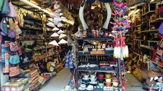 Shop selling local handicrafts and souvenirs in the Old Quarter of Hanoi