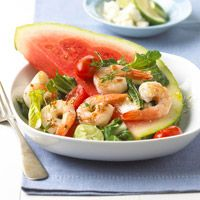 shrimp and watermelon salad, can't wait for summer!