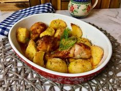 Potatoes, Meat, Chicken, Vegetables, Food, Potato, Veggies, Vegetable Recipes, Meals