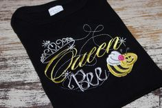 Queen Bee Black Short Sleeve Shirt by LBChildrensBoutique on Etsy https://www.etsy.com/listing/164342814/queen-bee-black-short-sleeve-shirt