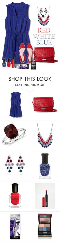 """Fourth of July"" by kimchk ❤ liked on Polyvore featuring Gap, Longchamp, Blue Nile, Kim Rogers, Deborah Lippmann, L'Oréal Paris and Kevyn Aucoin"