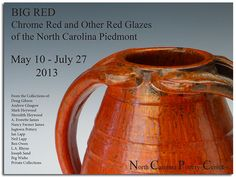"""Big Red"" at The North Carolina Pottery Center in Seagrove, North Carolina. Exhibition on view from May 10 - July 27, 2013"