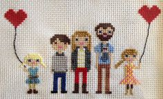 cross stitch your family, adorable!