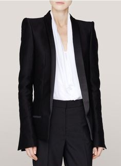 Haider Ackermann - Roxy cotton-silk blazer | Black Tailored Jackets | Womenswear | Lane Crawford - Shop Designer Brands Online