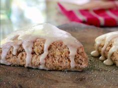 Pumpkin Scones with Maple-Cinnamon Glaze Recipe : Damaris Phillips : Food Network - FoodNetwork.com