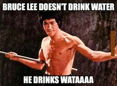 The reason there are no Bruce Lee jokes like Chuck Norris jokes is because Bruce Lee is no joke....