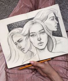 Art Drawings Beautiful, Art Drawings Sketches Simple, Pencil Art Drawings, Realistic Drawings, Art Du Croquis, Pink Drawing, Art Alevel, Comic Drawing, Ink Illustrations
