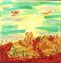 Dancing Dawn  Original Painting by doodleslice on Etsy, $70.00