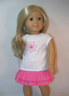 1754 18 Inch Doll Clothes Skirt and T-shirt by terristouch