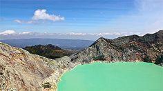 Kawah Ijen - lac d acide sulfurique