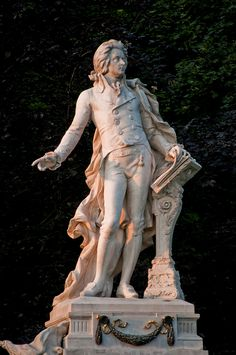 Wolfgang Amadeus Mozart statue, Vienna, Austria