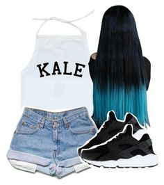 """All"" by kiaratee ❤ liked on Polyvore featuring NIKE"
