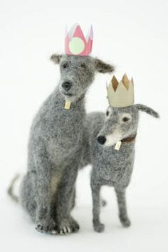 … from Holy Crap! Yarn and Stuff! WOOF WOOF Felt dogs hand-made by Domenica More Gordon from UK