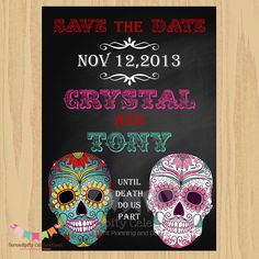 DIY Digital Sugar Skull Invitation Dia de by SerendipityPrintable, $15.00