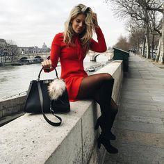 Tash Oakley in Paris. Such a cute look.