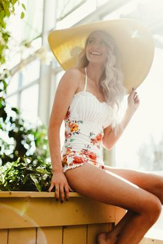 Cutest floral onepiece swimsuit