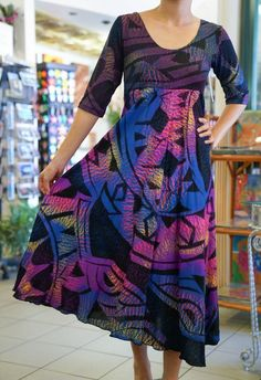 The Best Pacific and Samoa Shopping - Carvings, Crafts, Homeware and Gifts Purple Dress, Green Dress, Samoan Dress, Island Style Clothing, Island Wear, Special Occasion Outfits, African Print Dresses, Dress Patterns, African Fashion