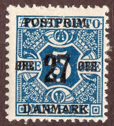 Denmark,  139,    27 ore on 5 ore,   Wtr'mk Crown,  Unused, LH