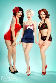 Back In Time >> RETRO STYLE Calendar Girls, Burlesque, Bikinis, Swimwear, Retro, Vintage, Style, Pin Up, Don't Care