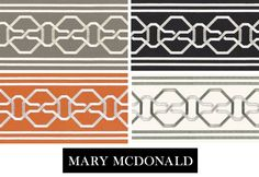 Mary McDonald Trim for Schumacher - Simplified Bee Furniture Projects, Cool Furniture, Mary Mcdonald, Bee Design, Passementerie, Scatter Cushions, Schumacher, Fabric Wallpaper, Tile Patterns