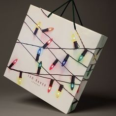Ted Baker holiday shopping bag...  GET CANVAS FRAME AND WRAP THE LIGHTS....